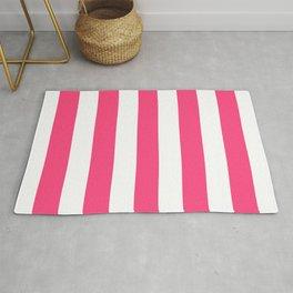 Sasquatch Socks - solid color - white stripes pattern Rug