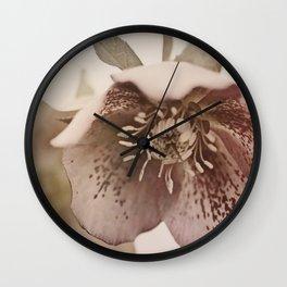 lenten rose Wall Clock