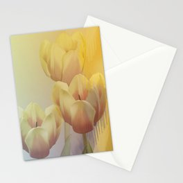 Tulips in golden light Stationery Cards