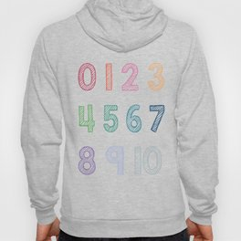 Numbers Kids Art 093 Nursery Art Hoody