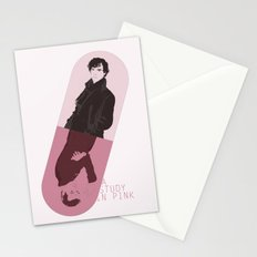 Sherlock tribute: A study in pink Stationery Cards