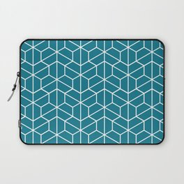 Blue hexagons Laptop Sleeve