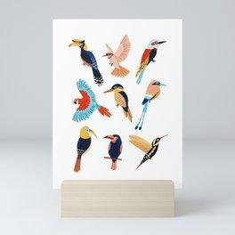 Tropical Jungle Birds Mini Art Print