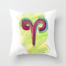 Aries Flow Throw Pillow