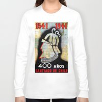 chile Long Sleeve T-shirts featuring CHILE by Kathead Tarot/David Rivera
