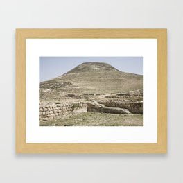 Ancient site of Herodion Framed Art Print