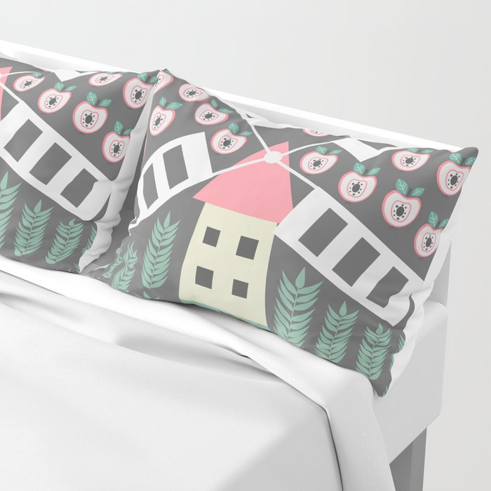 Windmill, apples and grains Pillow Sham