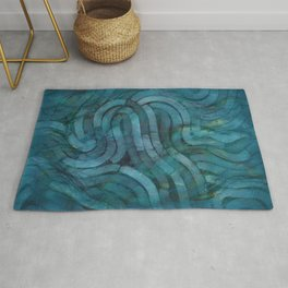 'Careful Where You Stand, In Aquamarin' Rug