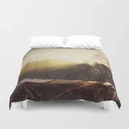 Winter At the River Duvet Cover