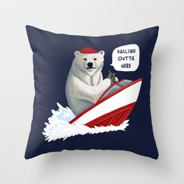 Sailing Outta Here Throw Pillow