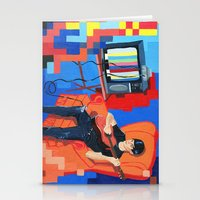 band Stationery Cards featuring PIXEL BAND by Kevin Whipple