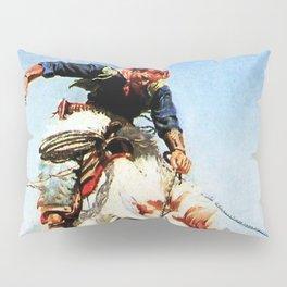 """Bronco Rider"" Western Art by W Herbert Dunton Pillow Sham"