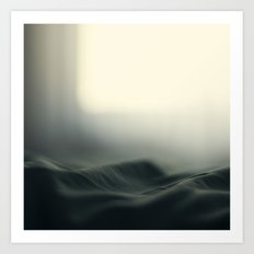 a sea of bed covers ...  Art Print