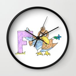 F is for Far Fetched Wall Clock