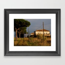 Sunny countryside in Italy Framed Art Print