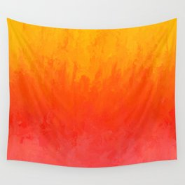 Coral, Guava Pink Abstract Gradient Wall Tapestry