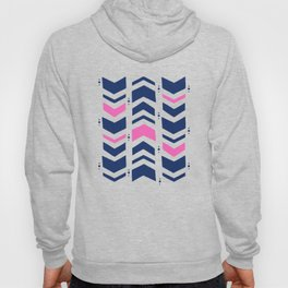 Midnight navy blue hot pink abstract geometric pattern Hoody