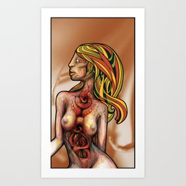Churning Within Herself Art Print