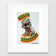 Zombiefied Framed Art Print
