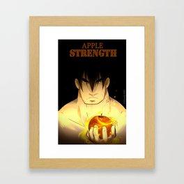Apple Strength - the curse Framed Art Print