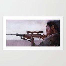 Rifleman Rick Grimes - The Walking Dead Art Print