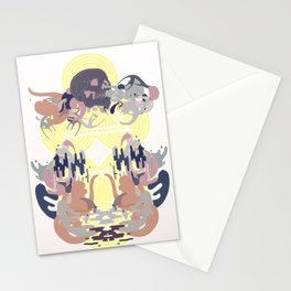 Skulls on the Water Stationery Cards
