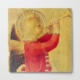 """Fra Angelico (Guido di Pietro) """"Music-making angel, Detail from the Linaioli Tabernacle"""" 5. Metal Print"""