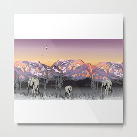 Elephantland Metal Print