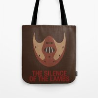 silence of the lambs Tote Bags featuring THE SILENCE OF THE LAMBS by Alejandro de Antonio Fernández