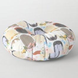 Everyone Suits Flowers - a hand designed print from the West Country, UK Floor Pillow