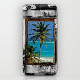 WINDOW ON PARADISE iPhone Skin