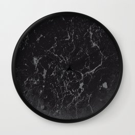 Gray Black Marble #1 #decor #art #society6 Wall Clock
