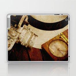 Leica camera and Panama hat Laptop & iPad Skin