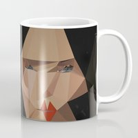bjork Mugs featuring pretty face by PandaGunda