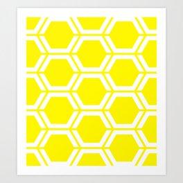 Cadmium yellow - yellow - Geometric Polygon Pattern Art Print