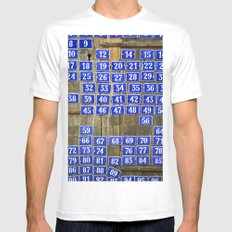 Numbers Mens Fitted Tee White MEDIUM