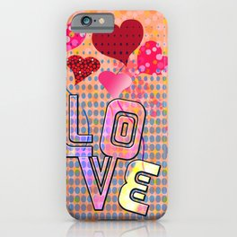 Valentine's Dots (Love) iPhone Case