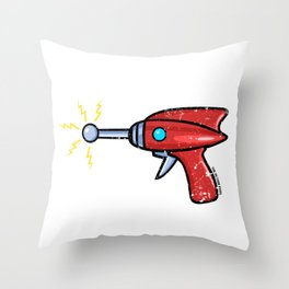 Ray Gun Throw Pillow