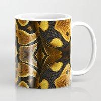 monty python Mugs featuring Ball Python by Moody Muse
