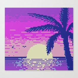Pixel Sunset Canvas Print