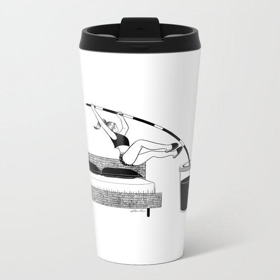 Wake up Metal Travel Mug