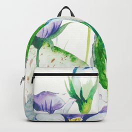 Love, Tropical Floral Watercolor Backpack