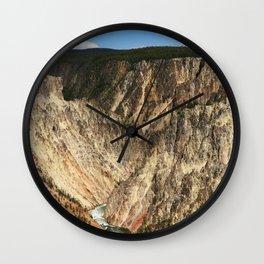 Yellow Rocks Of Yellowstone River Valley Wall Clock