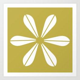 LOTUS MINIMAL - olive. Art Print