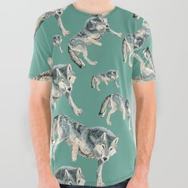 Totem Polar wolf All Over Graphic Tee