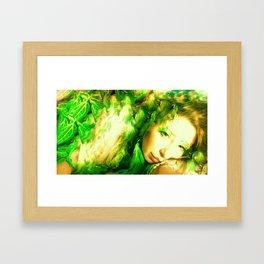 PHOTO OF LADYKASHMIR  SEMI NUDE GODDESS Framed Art Print