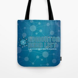 Edmonton Nerd List (with background) Tote Bag