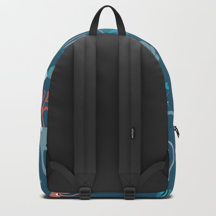 Sea creatures 004 Backpack