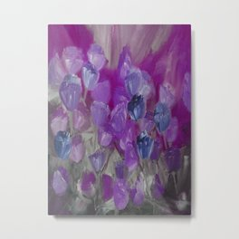 Violet Flower Garden Abstract Metal Print