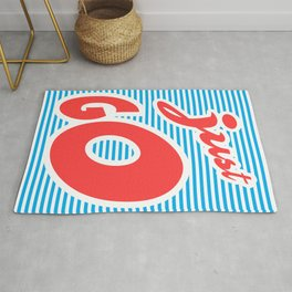 Just Go, typography poster, motivational poster, Rug